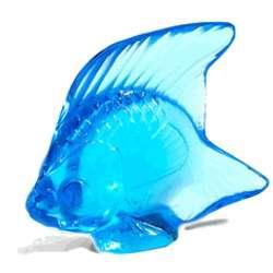 Lalique Crystal Fish Aquamarine