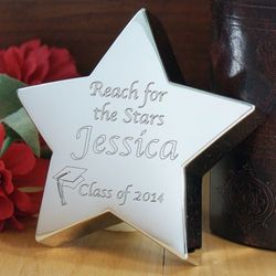 Reach for The Stars Silver Star Graduation Paperweight