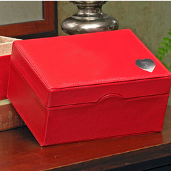 Red Wish and A Prayer Personalized Wedding Card Box