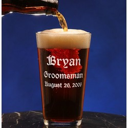 Personalized Groomsmen Pint Glass