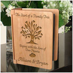 Personalized Family Tree Wooden Photo Album