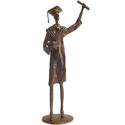 Bronze Graduate Figurine