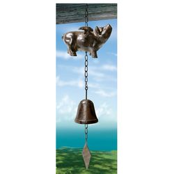Flying Pig Metal Bell