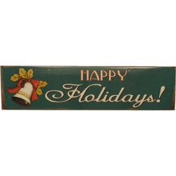 Happy Holidays Nostalgic Tin Sign