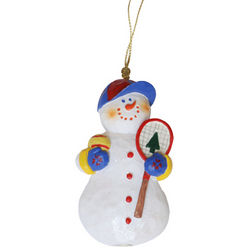 Snowman Tennis Ornament