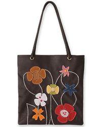Wildflowers Leather Handbag