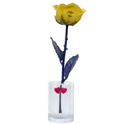 8 Inch Mother's Day I Love You Rose with Oval Vase