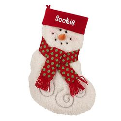 Personalized Furry Friend Snowman Stocking