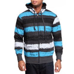 Thick Striped Sherpa Hoodie
