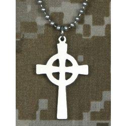 Stainless Steel US Military Celtic Cross Pendant