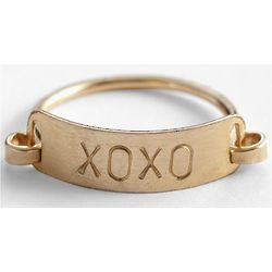 Xoxo Charm Catcher Ring