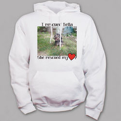 Personalized Rescued Pet Photo Hooded Sweatshirt