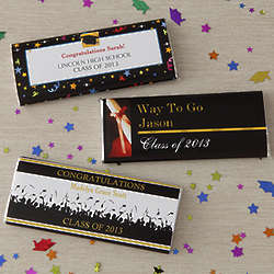 Personalized Way To Go Grad Candy Bar Wrappers