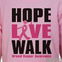 Personalized Breast Cancer Walk Long Sleeve Shirt