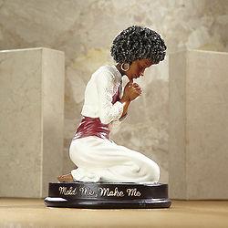 Mold Me Make Me Praying Woman Figurine