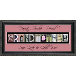 Grandmother Personalized Photography Letter Framed Art Print