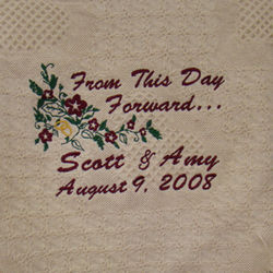 From This Day Forward Personalized Wedding Afghan