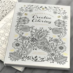 Personalized Hard Cover Adult Coloring Book