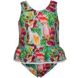 Tropical Bird Skirt Swimsuit