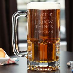 Colossal Personalized I Drink And I Know Things 33 Ounce Mug