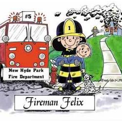 Firefighter Rescue Personalized Cartoon