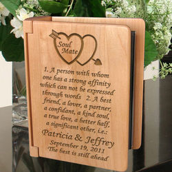 Personalized Soul Mate Definition Wooden Photo Album
