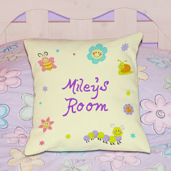 Personalized Little Smiles Throw Pillow