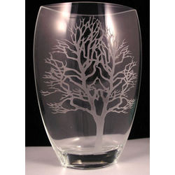 "Badash Crystal ""Tree of Life"" Vase"