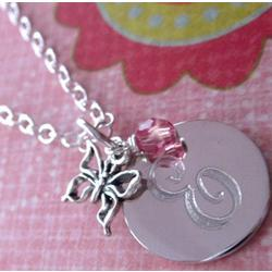 Happy to Be Me Personalized Butterfly Necklace