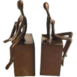 Bronze Man and Women Bookends