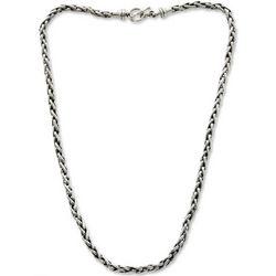 Men's Sterling Silver Sea Fern Chain