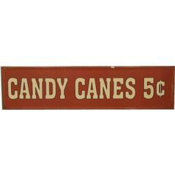 Candy Canes 5 Cents Nostalgic Tin Sign