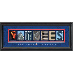 New York Yankees Letter Art Print
