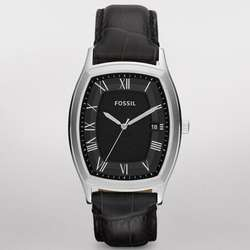 Ansel Leather and Stainless Steel Watch
