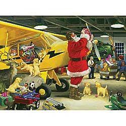 Santa's Hangar Jigsaw Puzzle