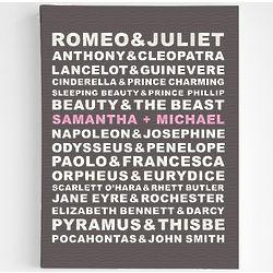 Personalized Famous Couples Canvas Art