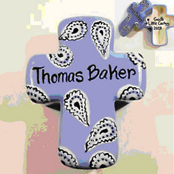 Personalized Paisley Ceramic Cross Box