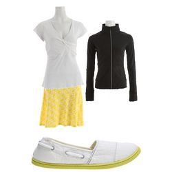 Pocketful of Sunshine Skirt, Jacket, Shirt, and Shoes