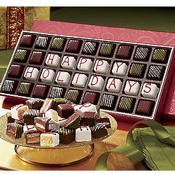 Happy Holidays Petits Fours Gift Box