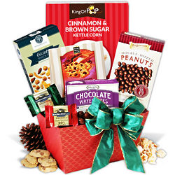 Dark Chocolate and Dipped Peanuts Christmas Basket