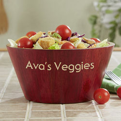 Small Bamboo Personalized Salad Bowl