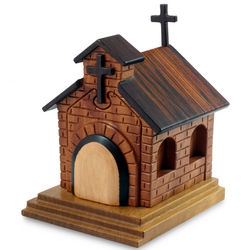 Country Church Mahogany Puzzle Box