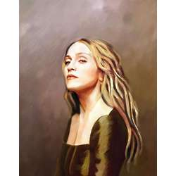 Madonna Oil Painting Limited Edition Art Print