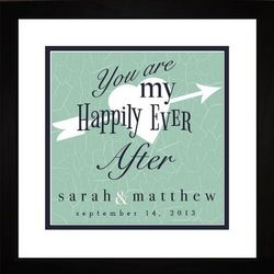 Happily Ever After Wedding Personalized Framed Art Print