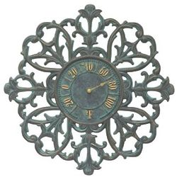 "Filigree Silhouette Indoor/Outdoor 21"" Wall Thermometer"