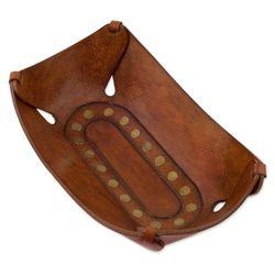 Rectangular Essence Leather Catchall