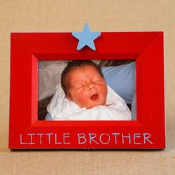 Little Brother Hand Painted Star Picture Frame