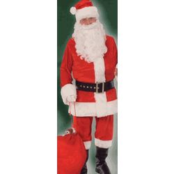 Santa Claus Costume Deluxe Velour Suit