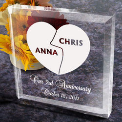 Personalized My Better Half Paperweight