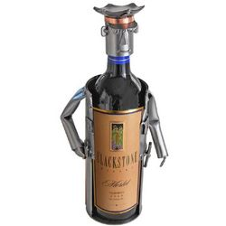 Handmade Policeman Recycled Metal Wine Caddy